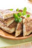 Stuffed pancake murtabak Royalty Free Stock Photos