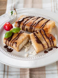 Stuffed pancakes Royalty Free Stock Image