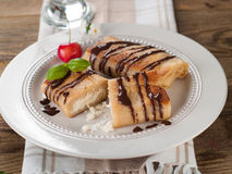 Stuffed pancakes Stock Images