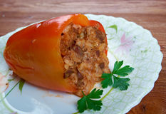 Stuffed paprika Stock Photos