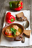 Stuffed paprika with meat Stock Photos