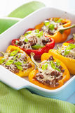 Stuffed paprika with meat and vegetables Stock Images