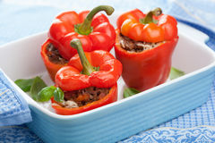 Stuffed paprika with meat and vegetables Royalty Free Stock Photography