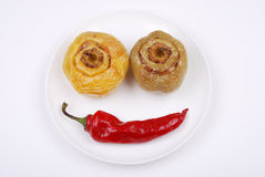 Stuffed paprika and red pepper smiling Stock Images