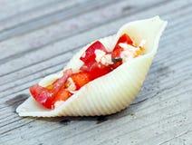 Stuffed Pasta shell Stock Photo