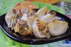 Stuffed pasta shell Stock Image