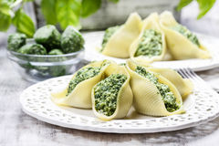 Stuffed pasta shells Royalty Free Stock Photo