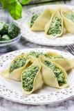 Stuffed pasta shells Stock Images