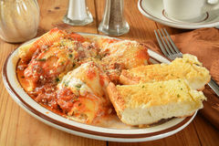 Stuffed pasta shells Stock Image