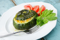 Stuffed Pattypan Squash Royalty Free Stock Images