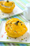 Stuffed pattypan squash Stock Photo