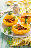 Stuffed pattypan squash Stock Photography