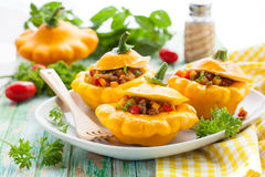 Stuffed pattypan squash Royalty Free Stock Photo