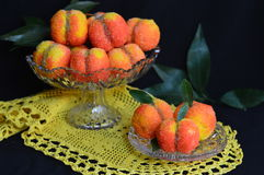 Stuffed peaches Royalty Free Stock Photos