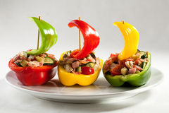Stuffed pepper with meat Stock Images