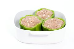 Stuffed pepper preparation Royalty Free Stock Photography