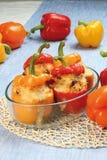 Stuffed peppers stock image