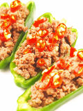 Stuffed peppers. Close up of delicious stuffed peppers Royalty Free Stock Image