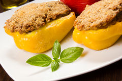 Stuffed peppers Stock Photos
