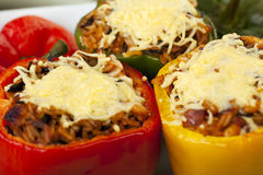 Stuffed Peppers Close Up. Royalty Free Stock Photo