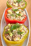 Stuffed Peppers in a Dish Royalty Free Stock Photos