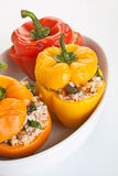 Stuffed Peppers in a Dish Royalty Free Stock Photo
