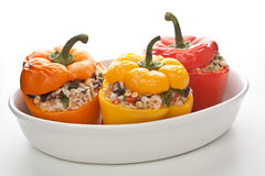 Stuffed peppers in a dish Stock Photo