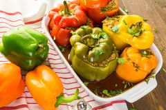 Stuffed peppers Royalty Free Stock Images