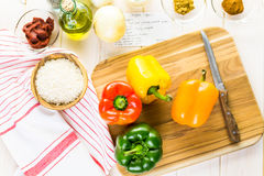 Stuffed peppers Stock Photography