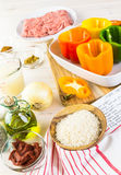 Stuffed peppers Stock Photo