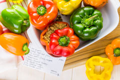 Stuffed peppers Stock Images
