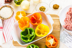 Stuffed peppers Royalty Free Stock Image