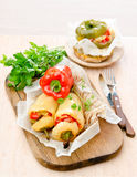 Stuffed peppers in macedonia. With vegetables Royalty Free Stock Photography