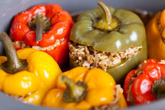Stuffed peppers. Macro Royalty Free Stock Images