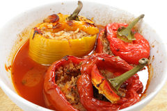 Stuffed peppers from the oven Royalty Free Stock Photography