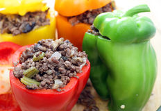Stuffed peppers oven ready Stock Image