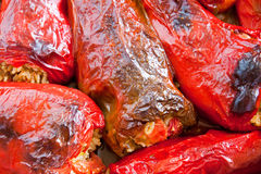 Stuffed peppers in the oven Royalty Free Stock Photos
