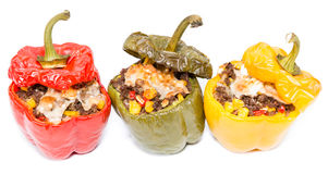 Stuffed Peppers over white Royalty Free Stock Image