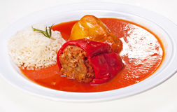 Stuffed Peppers and Rice Royalty Free Stock Photography