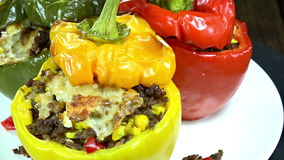 Stuffed Peppers (seamless loopable) Royalty Free Stock Photography