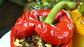 Stuffed Peppers (seamless loopable) Stock Images