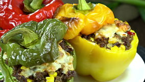 Stuffed Peppers (seamless loopable) Royalty Free Stock Photos