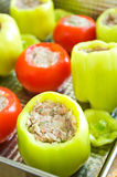 Stuffed peppers and tomato Royalty Free Stock Image