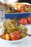 Stuffed peppers and tomatoes Stock Photo