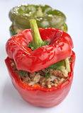Stuffed peppers on white Royalty Free Stock Photos