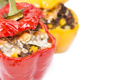 Stuffed Peppers on white Stock Images