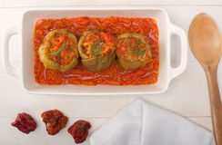 Stuffed Peppers on white Royalty Free Stock Photo