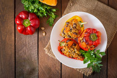 Free Stuffed Peppers With Rice, Beans And Pumpkin Royalty Free Stock Images - 58654349