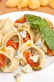 Stuffed Pesto Pasta Shells Stock Photos