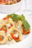 Stuffed Pesto Pasta Shells Stock Image